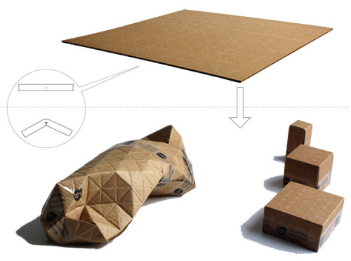 UPS - Universal Packaging System, Recyclable Corrugated Cardboard Sheet by Patrick Sung » Yanko Design I love the concept of this product!