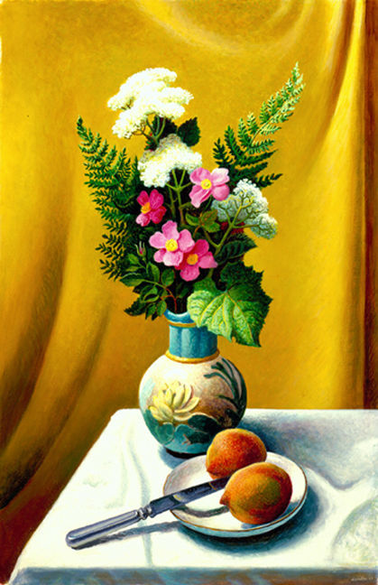 Thomas Hart Benton Still Life with Vase 20th century