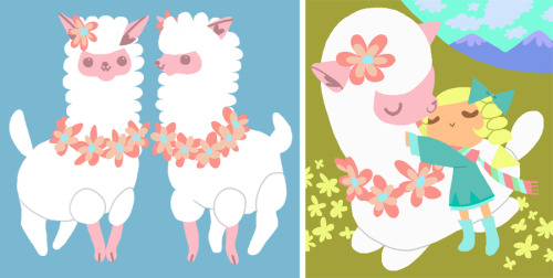 Alpaca Plushie design for hw. The idea was that it would be made with real alpaca fluff which is very soft and hypoallergenic = good for them sensitive kiddies (and adults).