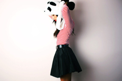 (via fashionfever)I want a panda hat, lol