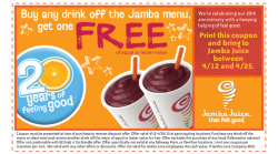 in case you didnt noe, buy one get on free at jamba juice! juss print it out!