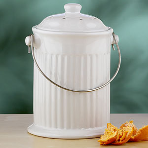 I want this!!! A ceramic compost bucket that has an air filter in the lid so it doesn't smell! I want I want I want…. =) Link: Cost Plus World Market Also check these out!!!  I'm sooo tempted… but I already have perfectly functioning containers for my recyclables… Now that I think about it… I don't really have much plastic/glass to recycle.  Most of my items to recycle are paper; I really need to start reducing that too.