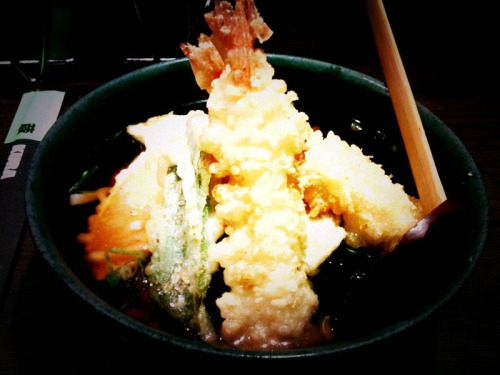 Tempura udon at Kura on Dixon Street - Haymarket.  Far too much food - must learn to be more restrained in my ordering..