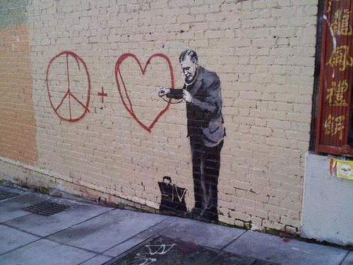 banksy (by caughtyouhoney)