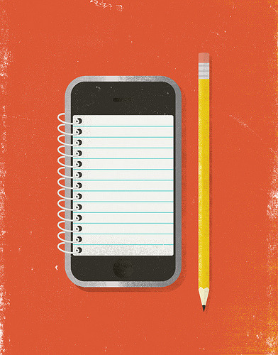 iphone notepad Illustration by Brent Couchman)