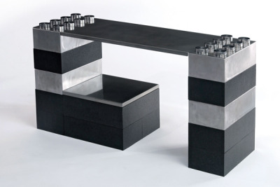 Lego inspired modular furniture designed by Thierry Nahon & Philippe Landecker(via Make via inhabitots)