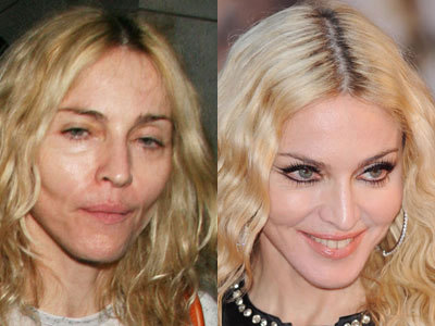 WOAH. MADONNA WITHOUT HER MAKE UP.