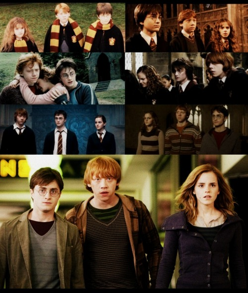 """Listen!"" said Harry again. ""No, Harry, you listen,"" said Hermione. ""We're coming with you. That was decided months ago - years, really."" - Harry Potter and the Deathly Hallows."