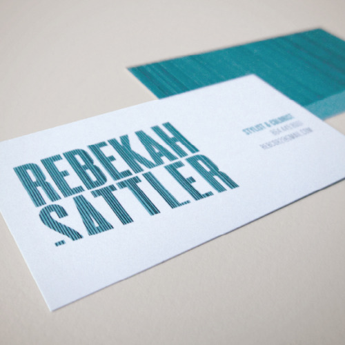 Rebekah Sattler  IdentityClient: Rebekah SattlerBusiness cards
