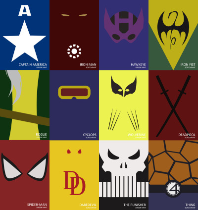 It had to happen. Minimalist posters + fervent superhero fandom = minimalist superhero posters. Best: Wonder Woman, Spider-Man. What the..?: Darkwing Duck. From fuckyeahmarvel: 30 Awesome Minimalist Super Hero Posters