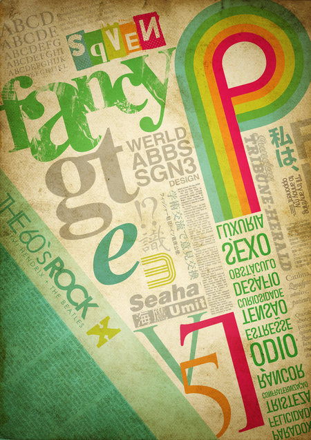 Typography Poster. Loving the tropical color combo.