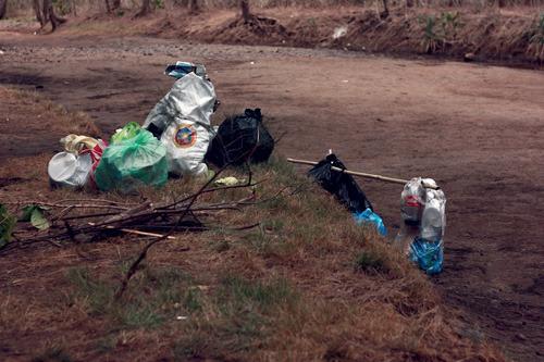 Anawangin trash