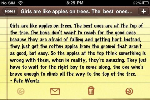 Girls are like apples on treees :)