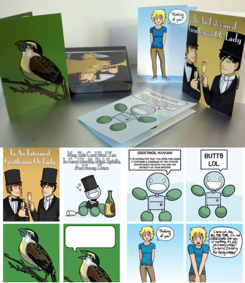 OMG OMG OMG: Questionable Content Greeting Cards! Linkz: TopatoCo: QC Greeting Card Set 01