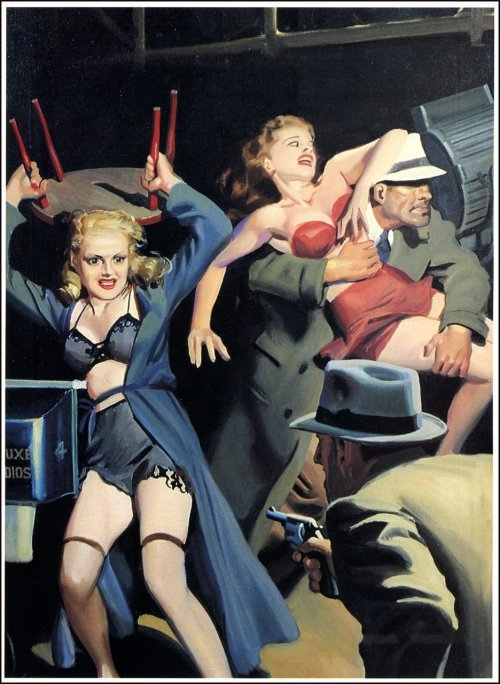 retrogasm:  Cool a fight…God I love noir…