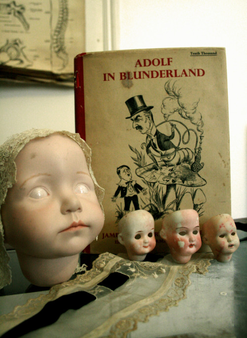 Eyeless dolls' heads, Victorian lace and Hitler satire. I give Spitifields a 10/10 today.