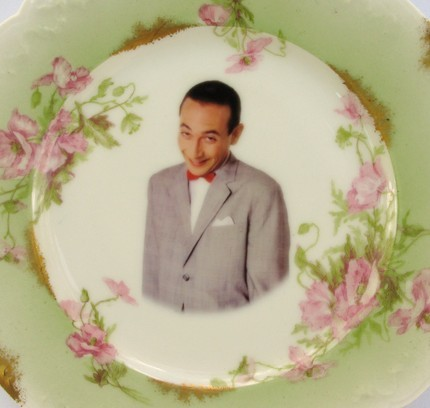 Pee-Wee Herman Portrait Plate- Altered Antique Plate (via Beat Up Creations)