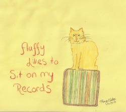 Day 10: Fluffy Likes To Sit On My Records