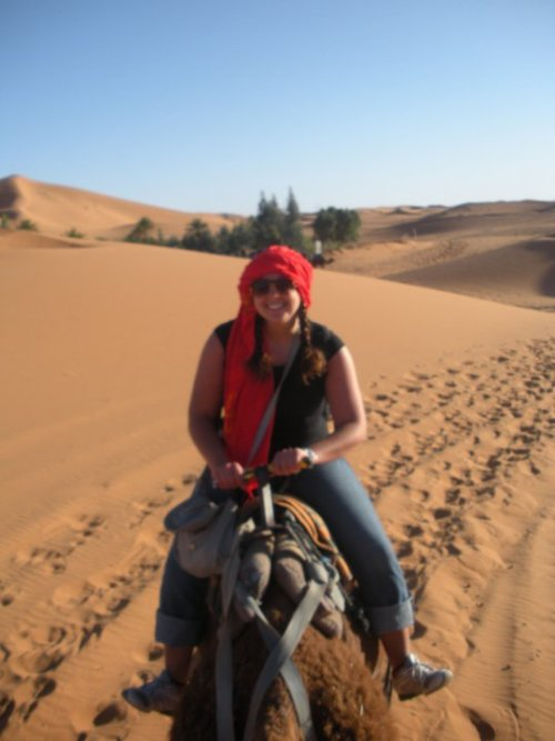 Me on my camel named Abraham :]]