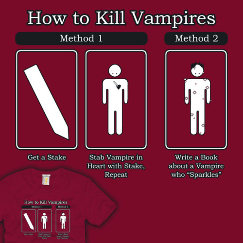 gamefreaksnz:  Shirt.Woot : Stephenie the Vampire Slayer Derby Entry.. hope this gets printed.