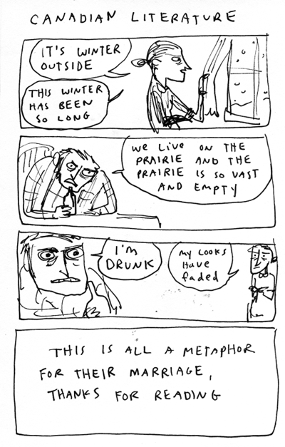 Literature comics- Canada: the whole damn thing