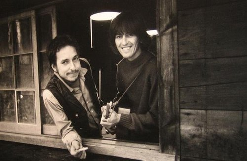 George Harrison and Bob Dylan at Dylan's farm in 1968 (irrelevant) I love 1968 Bob Dylan. He looks so much happier than he did from 64 to 67