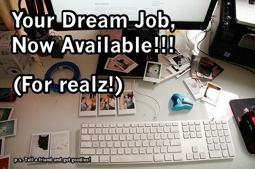 superamit:  photojojo:  Photojojo has one DREAM JOB open! We want someone who loves photography and really truly madly gets the internet to be our community marketing whiz. More info: http://photojojo.com/jobs/marketer.html TELL YOUR AWESOME SAN FRANCISCO FRIENDS!  I hear these guys are pretty cool. Right now this sucker has 52 notes. For every REBLOG it gets today from this point on, I'll give $1 to a charity of topherchris's choosing. If you think Photojojo, charities, employment, or dinosaurs are cool, PLEASE REBLOG.  These people are awesome. Please reblog (see above) for the $ donated and to help them find someone to make more awesomeness.