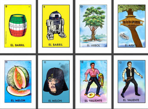Star Wars Loteria Tribute (via Boing Boing)