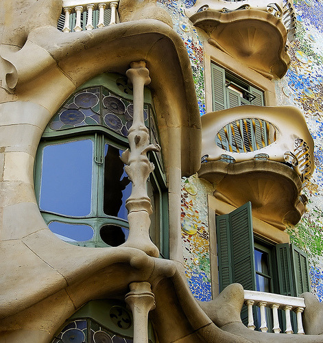 i heart gaudi… theworldwelivein:  A window of Casa Batlló, Barcelona, Spain© mistca