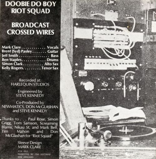"NEWMATICS - Broadcast O.R Double 7""Doobie Do Boy / Riot SquadBroadcast / Crossed WiresFurtive Records, 1981 flicking through my singles"