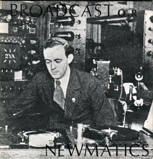 "NEWMATICS - Broadcast  O.R Double 7"" Doobie Do Boy / Riot Squad Broadcast / Crossed Wires Furtive Records, 1981 flicking through my singles"