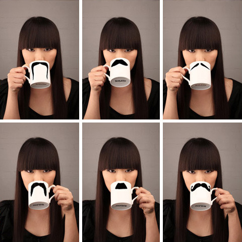 In love with these Mustache Mugs. Undeniably cute! mizaosan:  fyeahstrangefinds:  Mustache Mug Submitted by ikilledthecat