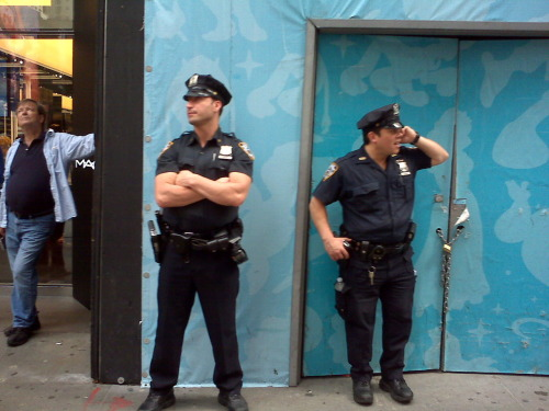 Cops today in Times Square, Manhattan. Just like any other day, until…
