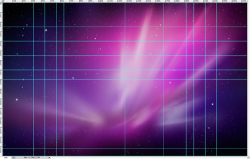 jacob:  If you open the default OS X background Aurora in Photoshop you can see the Apple designer's guides.