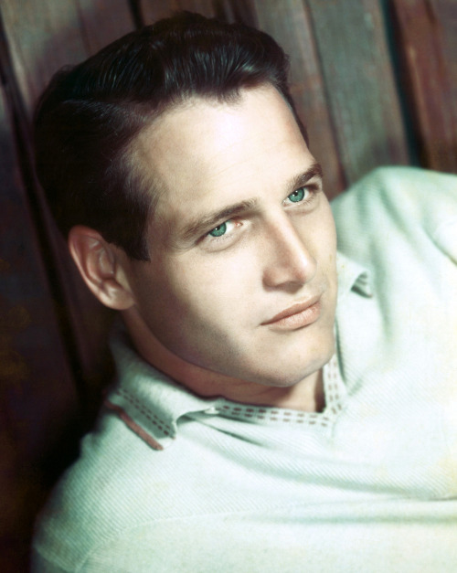 Paul Newman and his eyes.