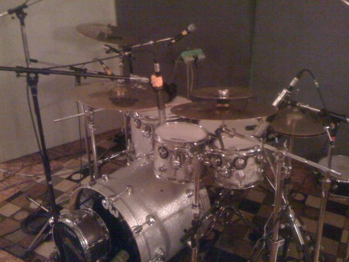 In the studio with Enjoy Your Pumas!  Check out the setup … this album's gonna be stellar!