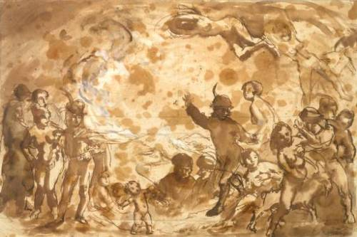 (Walpurgis Night. Verso: Study of a Man, 1900)