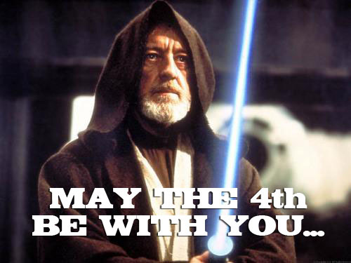 theforce:  pie0:  lastchancetodisco:  vampibots:  May the 4th be with you… Happy Star Wars Day!