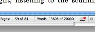 I hit 20,000 words on my manuscript yesterday. It was like watching my car odometer tick over.