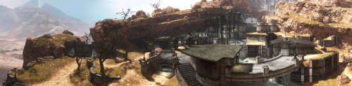 Here's a panorama shot I made of the Powerhouse map from the Halo Reach multiplayer beta.