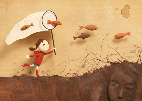 Amazing…Illustrations with CLAY. The is the next thing I want to try.