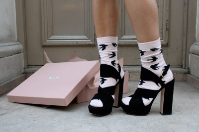 statementshoes:  Miu Miu  These are so perfect with socks!