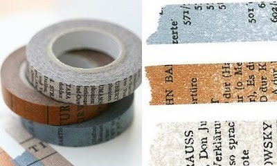 Text Tape, love it! ninakix:  Old book vintage masking tape. Available  here. via