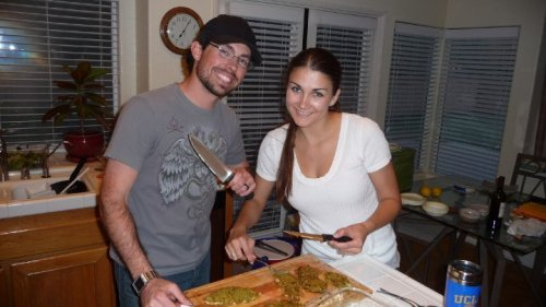 My fine lady and I cooking some mean chicken!