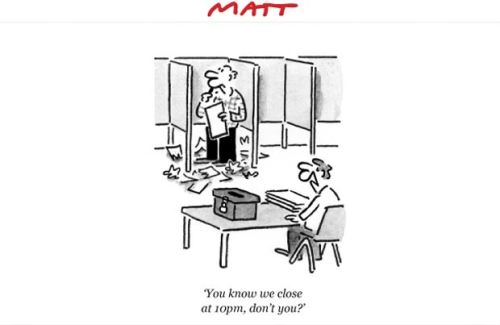 Matt cartoons witty political cartoons and satirical sketches - Telegraph