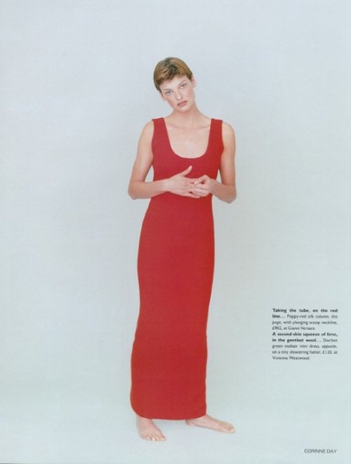 Vogue UK May '93 Linda Evangelista by Corinne Day