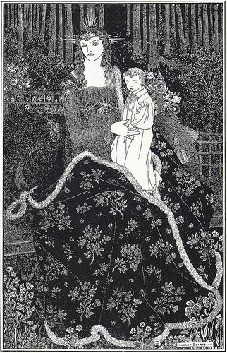 vintageillustration:  Aubrey Beardsley, A Christmas Card (by Gatochy)
