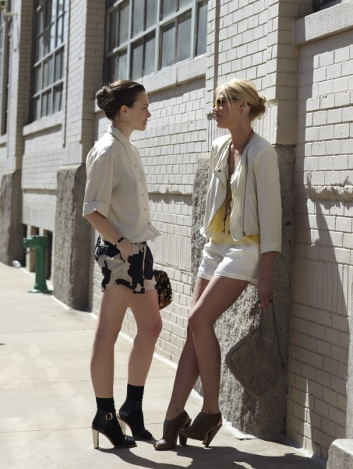 From Club Monaco's Fall lookbook. shot by Garance Dore