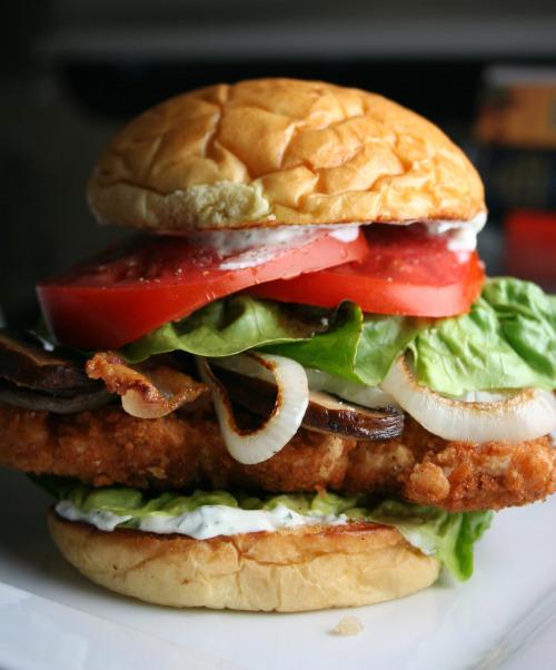 bacon fried chicken sandwich