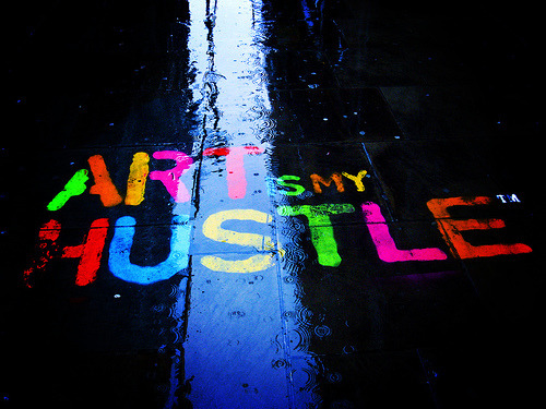 """ART IS MY HUSTLE""..Yup I'm an artistic gangster..lol…"